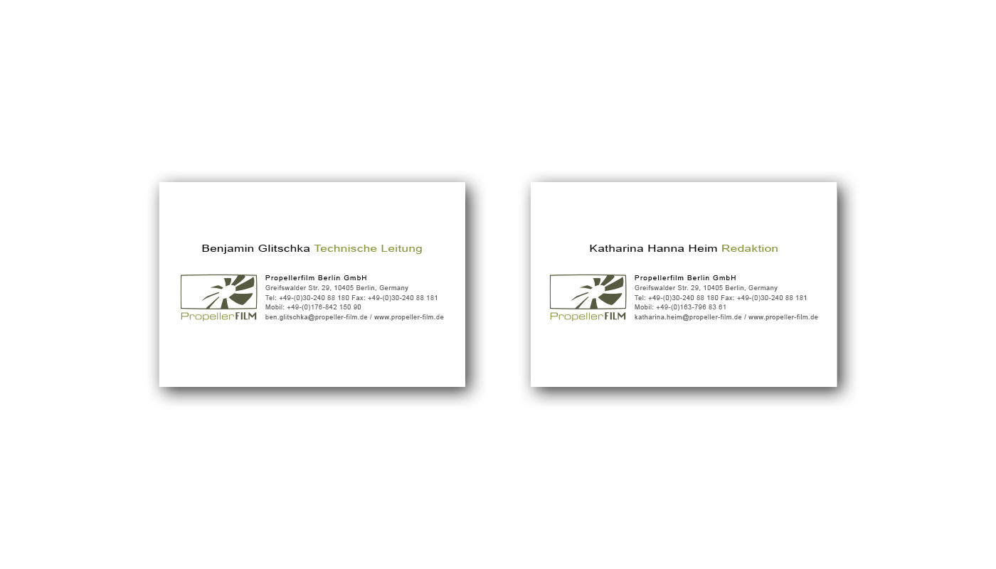 Visitenkarten | Standardformat