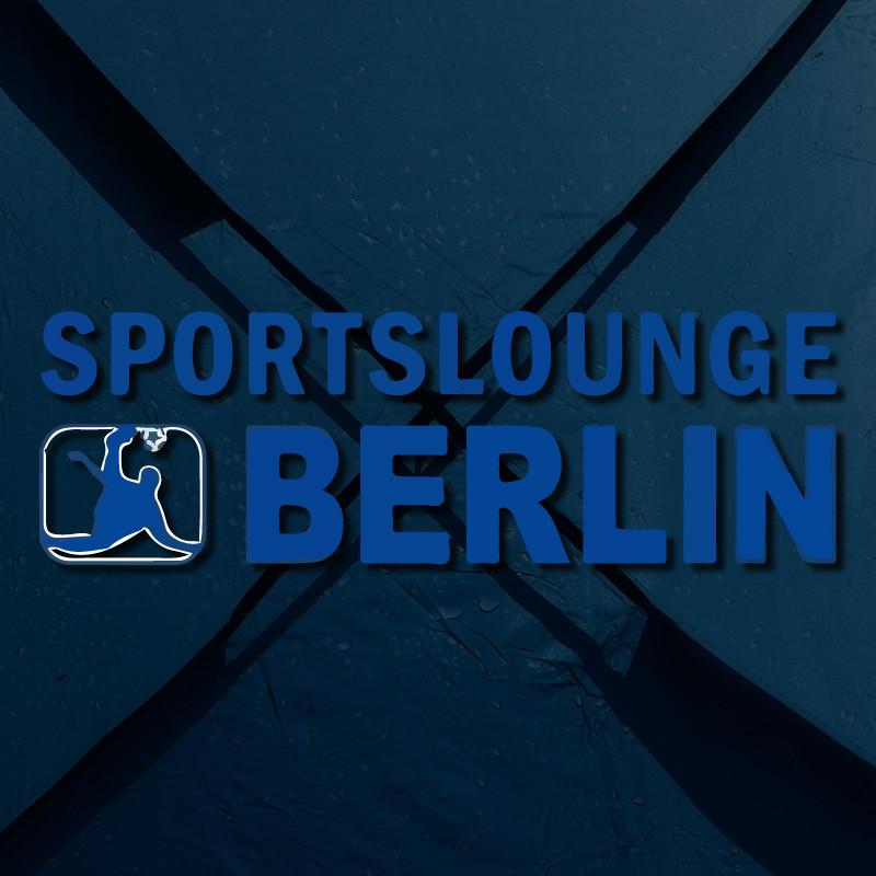blaues Portfoliobild mit blauem Empor Sportslounge Logo