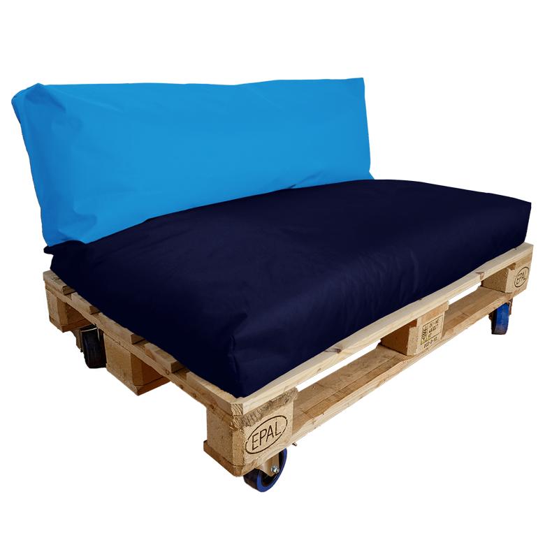 Palettenkissen Farbkombination koenigsblau-marine