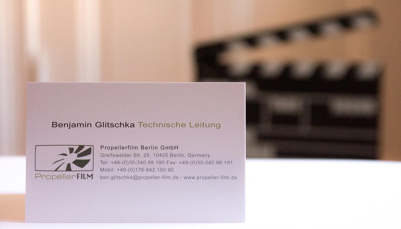 Visitenkarte Propeller Film