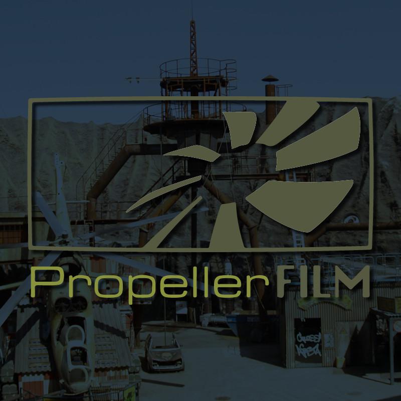 blaues Portfoliobild Propeller Film